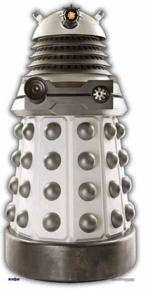 White Supreme Dalek - BBC Doctor Who / Dr Who / Dr. Who - Lifesize Cardboard Cutout /  - Lifesize Cardboard Cutout / Standee