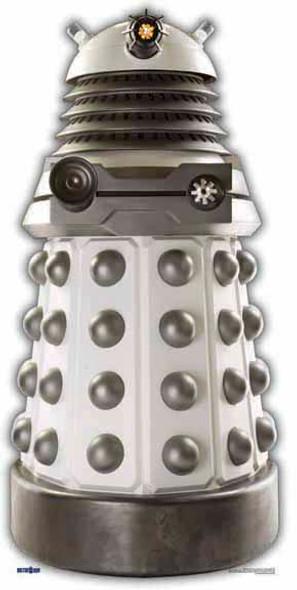 White Supreme Dalek - BBC Doctor Who / Dr Who / Dr. Who - Lifesize Cardboard Cutout /  - Lifesize Cardboard Cutout / Standee