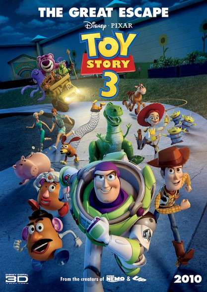 TOY STORY 3 Poster - (Disney, Pixar) - RARE double sided INTERNATIONAL ADVANCE STYLE B ONE SHEET (2010) ORIGINAL CINEMA POSTER