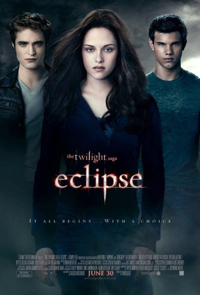 TWILIGHT ECLIPSE Poster - (Robert Pattinson, Taylor Lautner) - double sided REGULAR US ONE SHEET (2010) ORIGINAL CINEMA POSTER