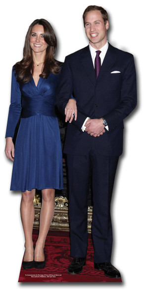 Prince William and Kate Middleton Royal Wedding Cutout