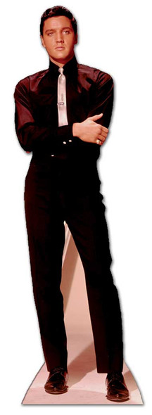 Elvis in Black Suit and White Tie cardboard cutout