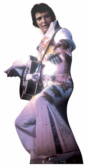 Elvis in White Jumpsuit with Guitar lifesize cardboard cutout
