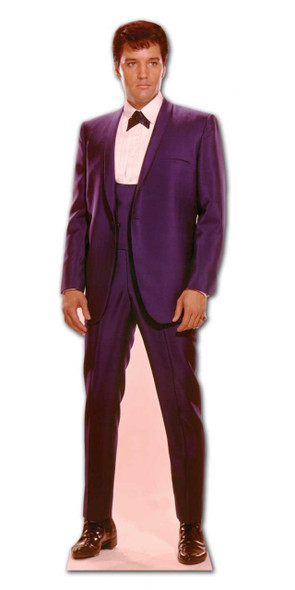 Elvis 1960s Wearing Blue Suit cardboard cutout