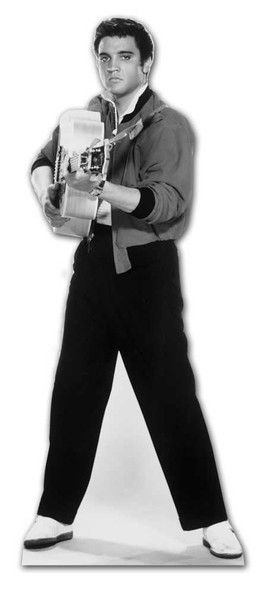 Elvis Shooting with Guitar cardboard cutout