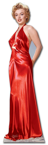Marilyn Monroe Red Gown cardboard cutout
