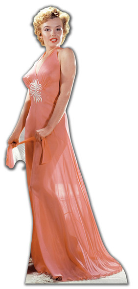 Marilyn Monroe Peach Night Gown cardboard cutout