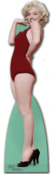 Marilyn Monroe Red Swim Suit cardboard cutout