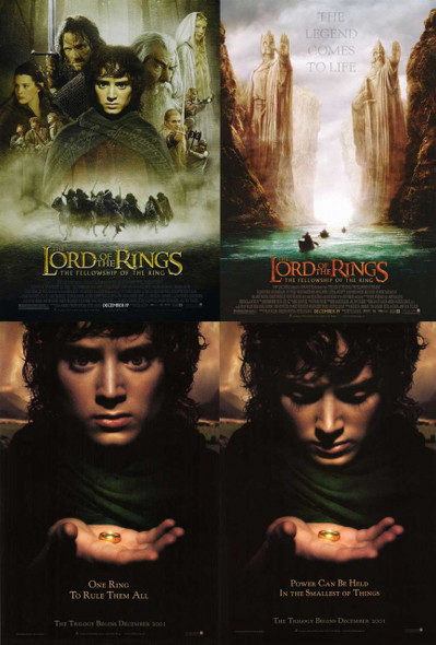 LOTR Fellowship Of The Ring Poster Set
