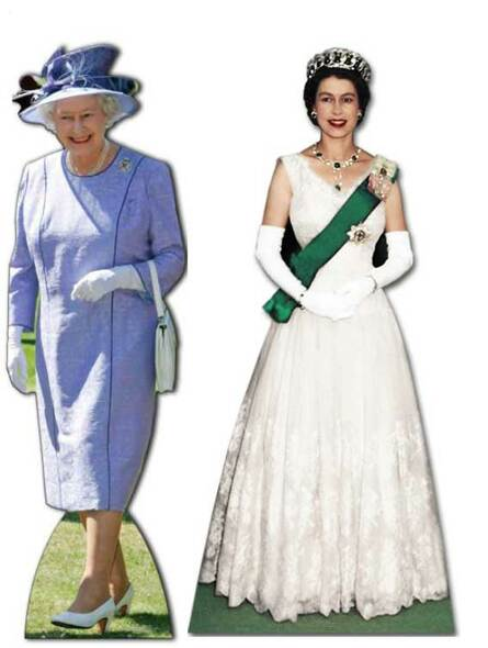Queen Elizabeth II (1953 to 2012) - Cardboard Cutouts