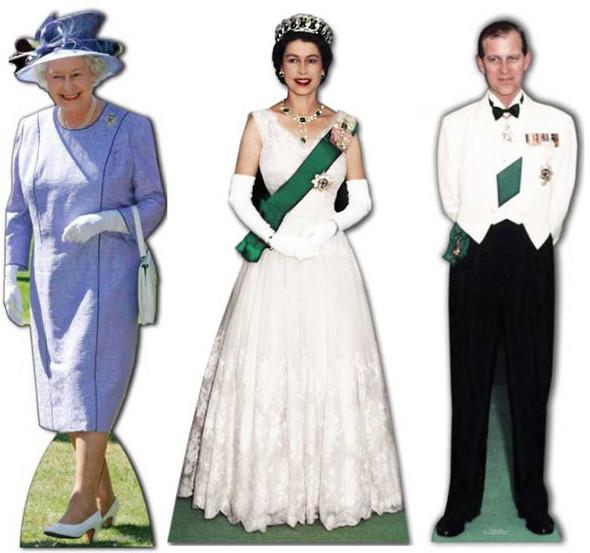 Platinum Jubilee - Coronation Cardboard Cutout Set