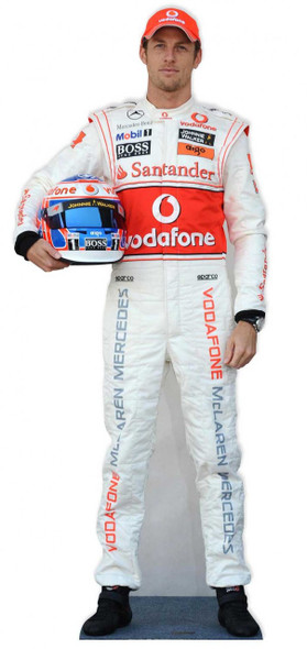 Jenson Button Cardboard Cutout