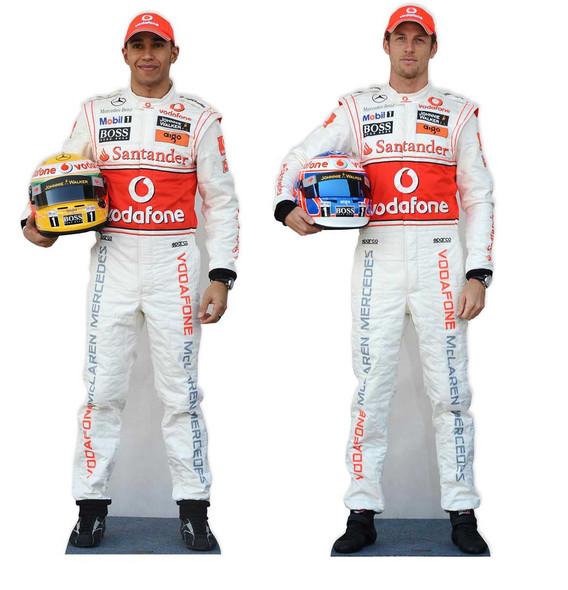 Jenson Button & Lewis Hamilton Lifesize Cardboard Cutout Set