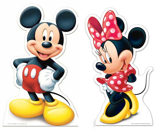Mickey Mouse and Minnie Mouse Cutout Set