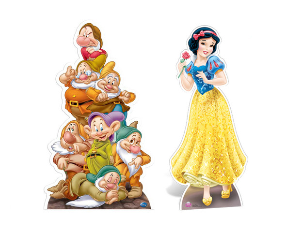 Snow White & The Seven Dwarves Cutout Set