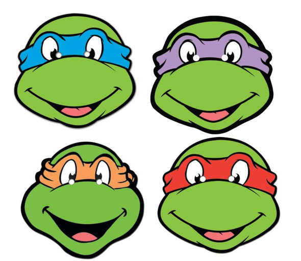 TMNT Face Mask Set of 4