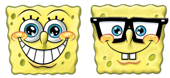 Spongebob Face Mask Set of 2