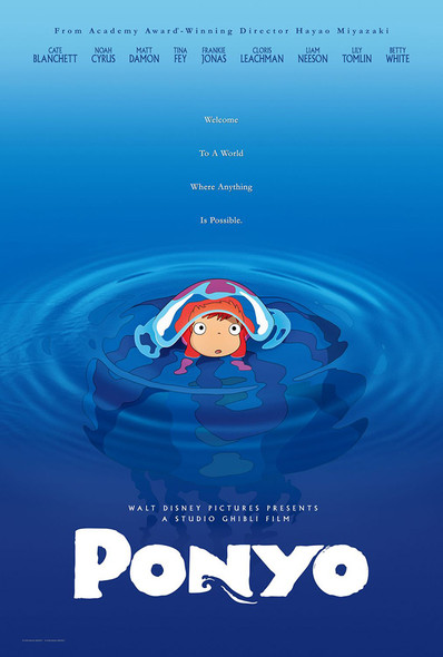 Ponyo Original Movie Poster Advance Style