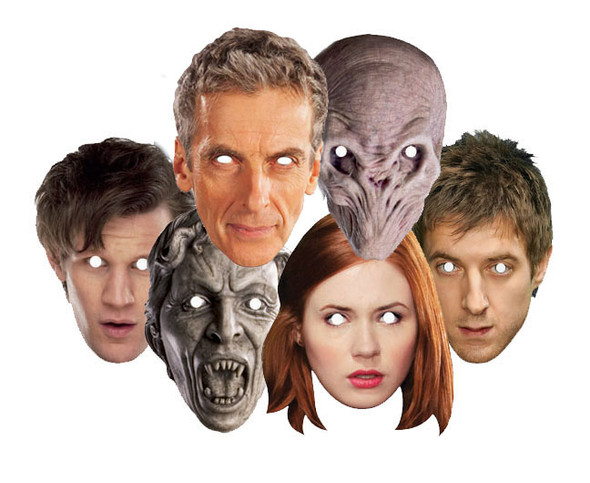 Doctor Who Party Face Masks (Set of 6)