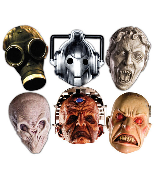 Doctor Who Party Face Masks  (Monsters set of 6)