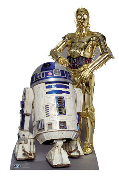 The Droids R2-D2 and C3PO Star Wars Cardboard Cutout