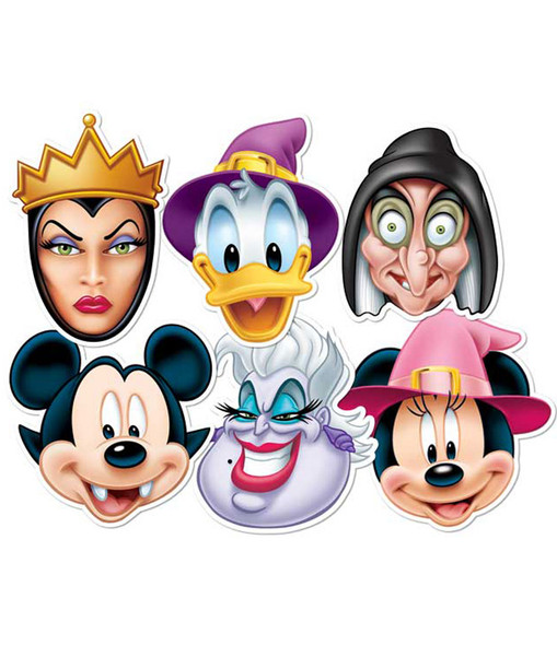 Disney character Halloween Party Face Masks (Set of 6)