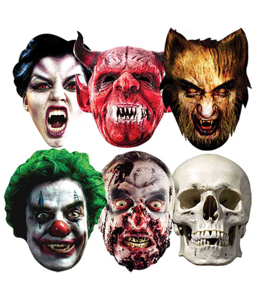 Halloween Party Face Mask (Set of 6)