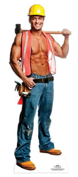 Billy Construction Worker Outfit - Chippendales Lifesize Cardboard Cutout / Standee