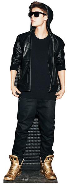 Justin Bieber wearing Gold Shoes Lifesize Cardboard Cutout / Standee