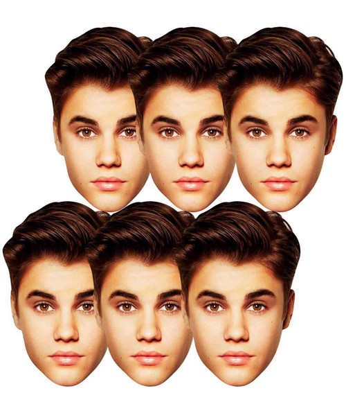 Justin Bieber Face Mask Set of 6