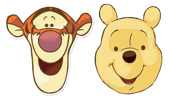 Winnie The Pooh and Tigger Face Mask Set