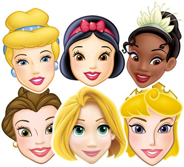 Disney Princess Face Mask Set Of 6