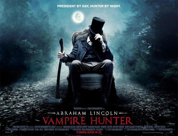 ABRAHAM LINCOLN VAMPIRE HUNTER Poster (Quad)