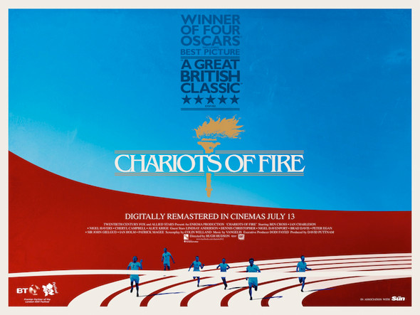 CHARIOTS OF FIRE 2012 Re-release Poster (Quad)