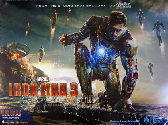 IRON MAN 3 Poster (Quad)