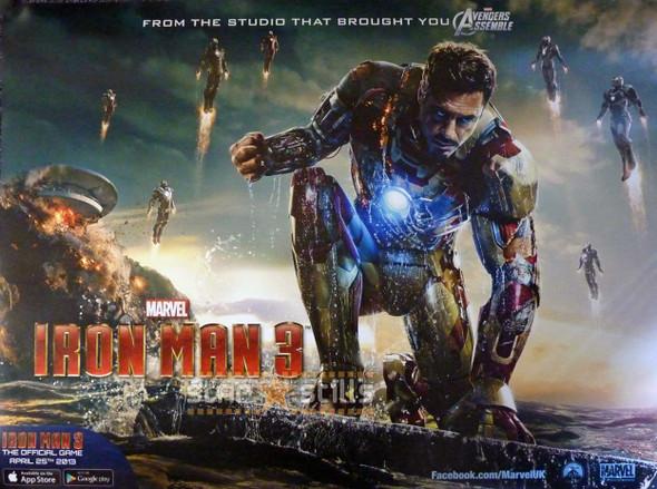 IRON MAN 3 Poster (Quad)