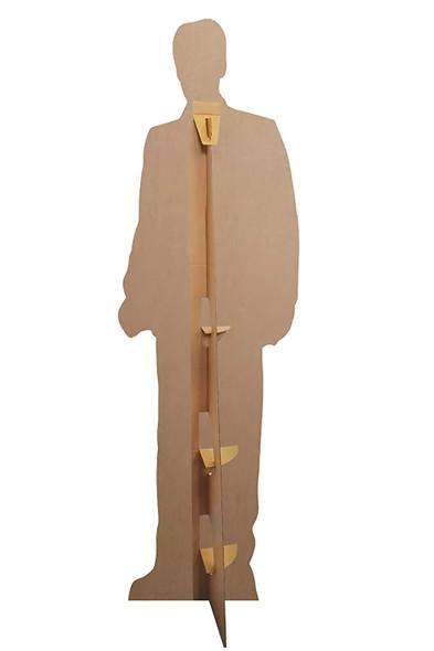 Rear of Elvis wearing Tuxedo cardboard cutout
