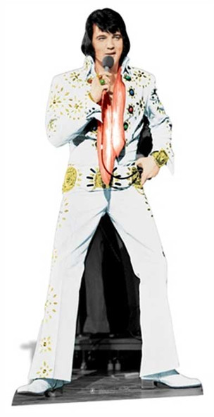 Elvis Las Vegas White Suit cutout