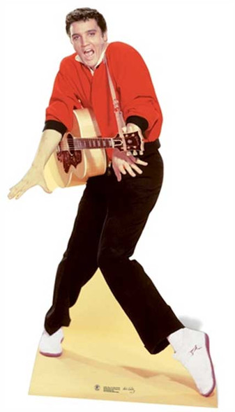 Elvis wearing Red Jacket and Guitar cutout