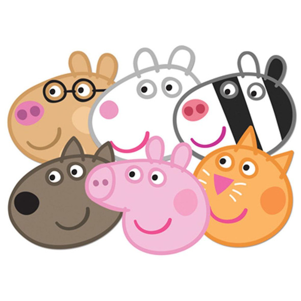 Peppa Pig Face Mask Set of 6
