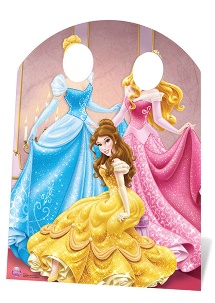 Disney Princess Stand-in (Child Size) Belle, Aurora and Cinderella Lifesize Cardboard Cutout / Standee