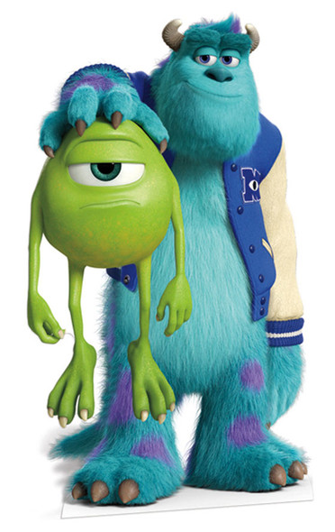 Sulley and Mike Lifesize Cardboard Cutout / Standee (Monsters University)