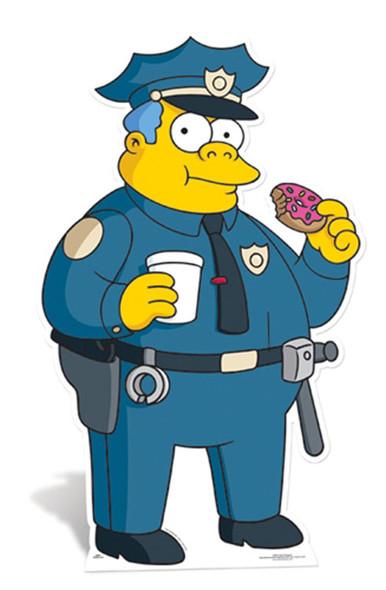 Police Chief Wiggum Cardboard Cutout
