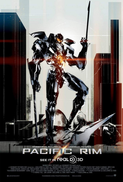 PACIFIC RIM Poster Rare Exlusive Yoji Shinkawa Artwork