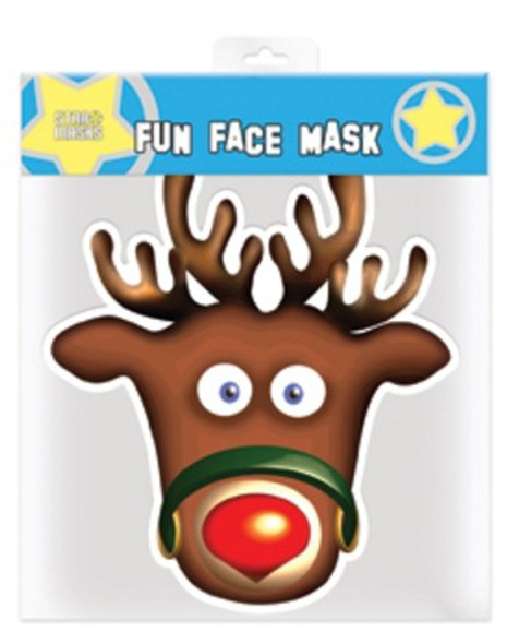 Rudolph The Red Nosed Reindeer Christmas Party Face Mask
