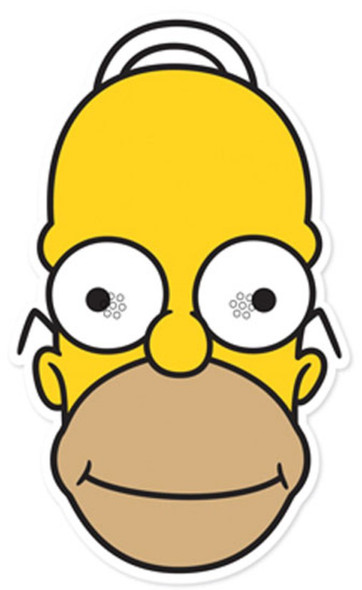 Homer Simpson Party Face Mask (The Simpsons)