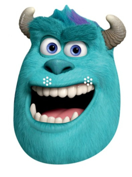 Sulley Party Face Mask (Monsters University)