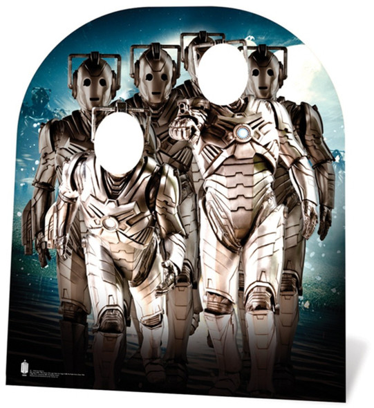 Cyberman Army Child Size Doctor Who Cardboard Cutout Stand-in