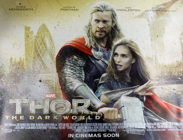 Thor The Dark World Movie Poster - Destruction of London Style