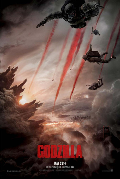 Godzilla (2014) Original Movie Poster